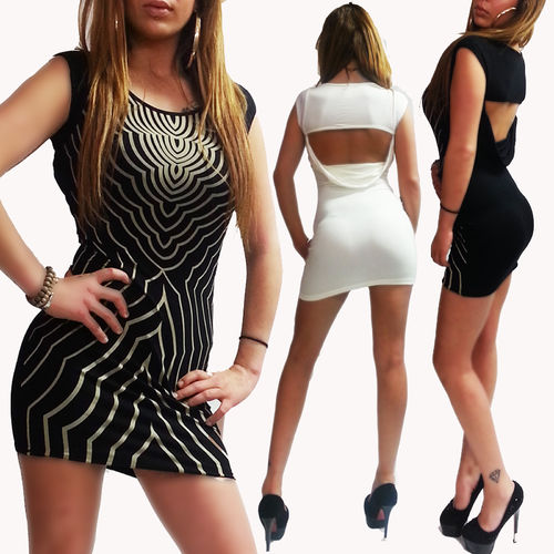 Rückenfreies Kleid Marke Nitaz hot Beach Party Urlaub Strand Mini Dress 5 Farben
