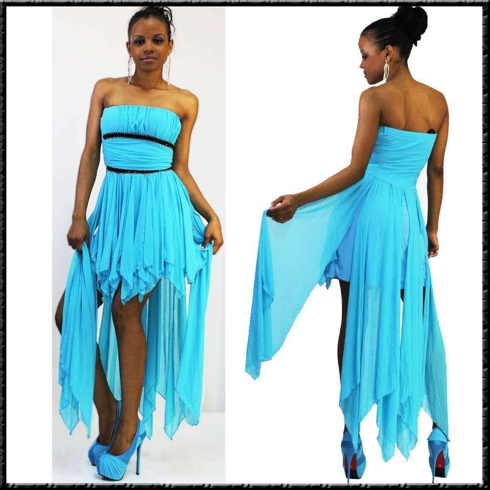 Abendkleid Ballkleid Brautjungfer Bandeaukleid 34 - 40 Farben blau ...