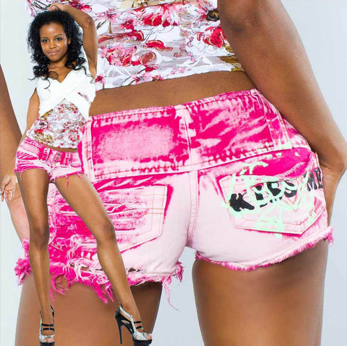 Hotpants KISS Knack Po Beach Party pink Crazy Pants Panty low waist hot Urlaub