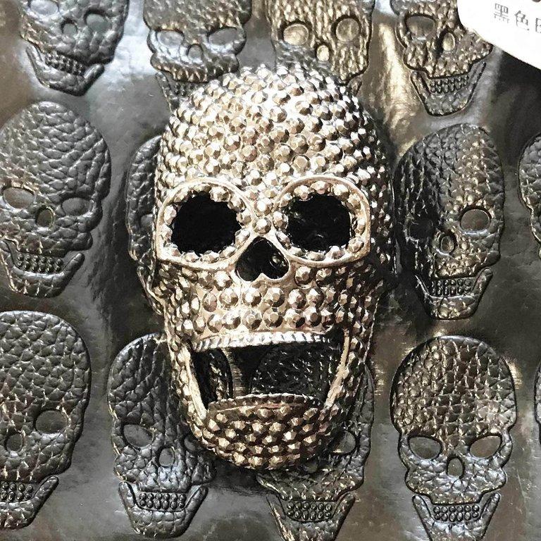 Totenkopf Tasche Koffertasche Gothic Bag Punk Fantasy Skull Deathhead black